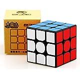 HJXDJP 世界標準色 3x3x3スピードキューブ 競技專用マジックキューブ 滑らかな回転 調整可能な立体パズルキューブ (黒素体)