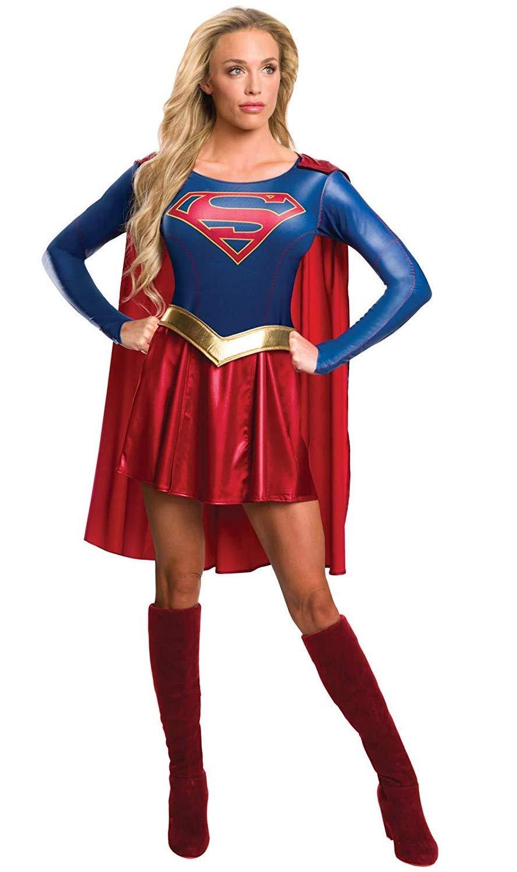 Rubies offizielles Supergirl-T-Shirt-Kost/üm f/ür Damen TV-Serie Erwachsenen-Kost/üm Gr/ö/ße S