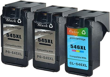 nineleaf 3 Pack – PG-545 X L y CL-546 X L remanufacturados para ...