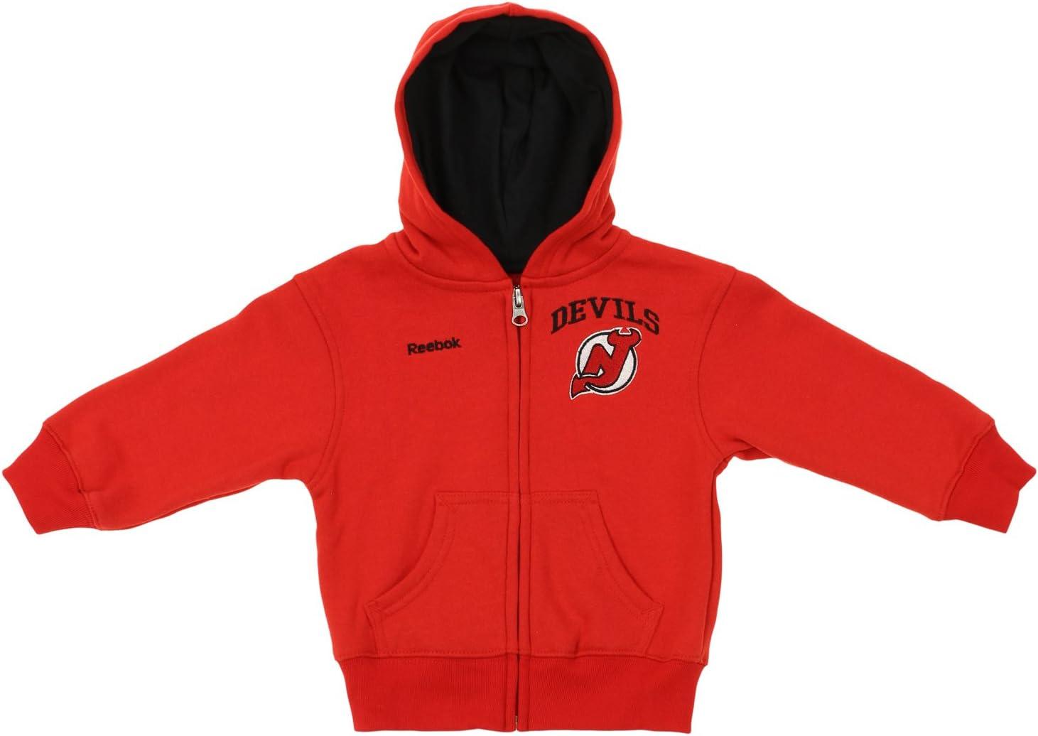 Reebok NHL Youth New Jersey Devils Drop Pass Full Zip Hoodie