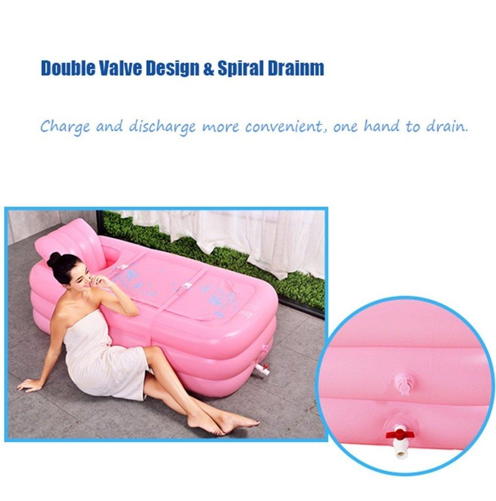 eaa57472c ... fácil Bañera hinchable hinchable hinchable plegable portátil para  adulto para bañera o piscina para adultos, ...