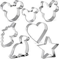 Cookie Cutter for Kids,Mickey Mouse Unicorn Dinosaur Heart Star Shapes Stainless Steel Cookie Cutters Mold for Cakes…