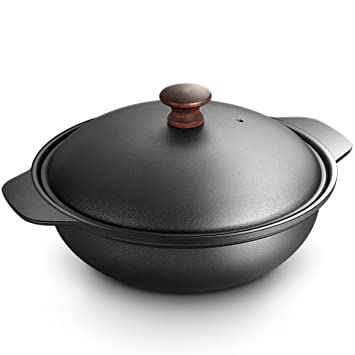 LIAN Sopa olla estofado de hierro fundido vintage viejo esmalte uso casero Estofado sopa Día de la Madre y el regalo del Día del Padre: Amazon.es: Hogar