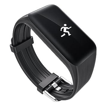 Fitness Tracker- QIMAOO A59 Pulsera Actividad Inteligente con Pulsómetro Pulsera Deportiva Monitor de Actividad Impermeable