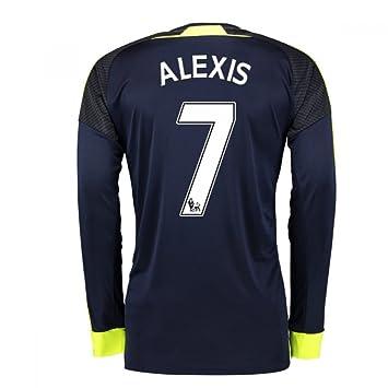 92fb33d14 Amazon.com  2016-17 Arsenal Long Sleeve 3rd Shirt (Alexis 7)  Sports ...