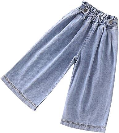 Pantalones Sueltos Para Ninas Ropa Para Bebes Y Ninos Cintura Elastica Pantalones Vaqueros Para Ninas Pantalones Anchos Amazon Es Ropa Y Accesorios