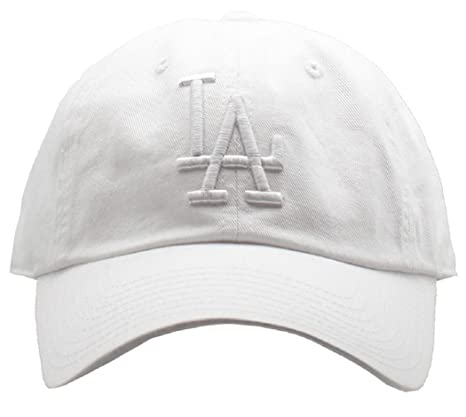 636a22a17c319d American Needle Los Angeles Dodgers MLB Tonal Ballpark Slouch Cotton Twill  Adjustable Hat (Snow White