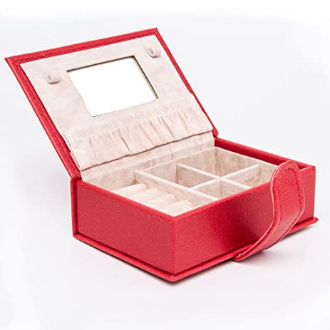 Amazoncom HEZALA Small Jewelry Box PU Leather Travel Jewelry