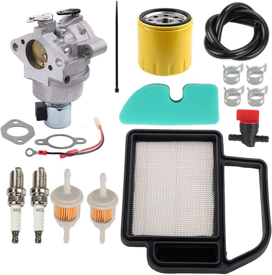 Coolwind SV590 Carburetor + Air Filter Fuel Filter Oil Filter Tune Up Kit for Kohler Courage SV Series SV530 SV540 SV600 SV591 SV601 SV610 SV620 15HP 17HP 18HP Rep 20 853 33-S 20 853 14-S 20 853 01-S