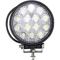 BRIGHTUM 42W LED Faro de trabajo FOCO offroad camiòn Lámpara de inundación work light Redonda 12V 24V (10 pieza)