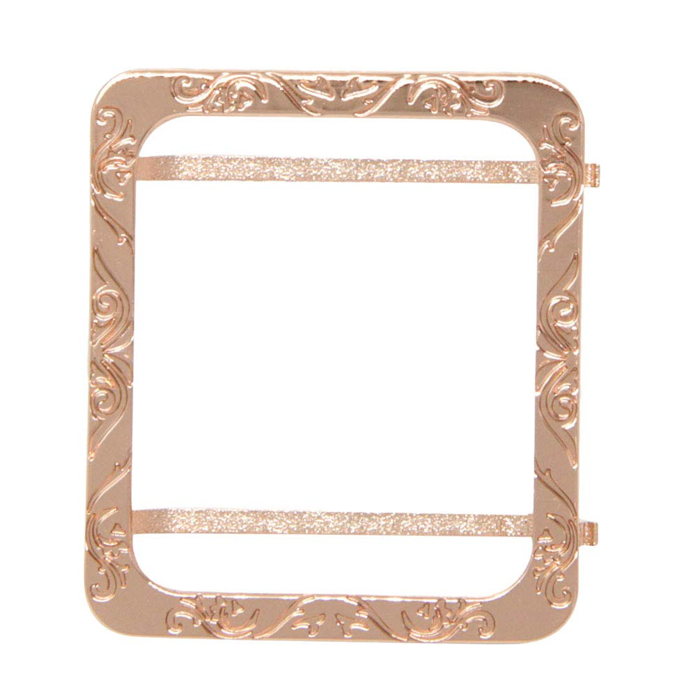 Hemobllo Apple Watch Case Metal Frame Protective Case Cover Shell Bumper for Square Apple Watch Series (42mm Rose Gold) by Hemobllo