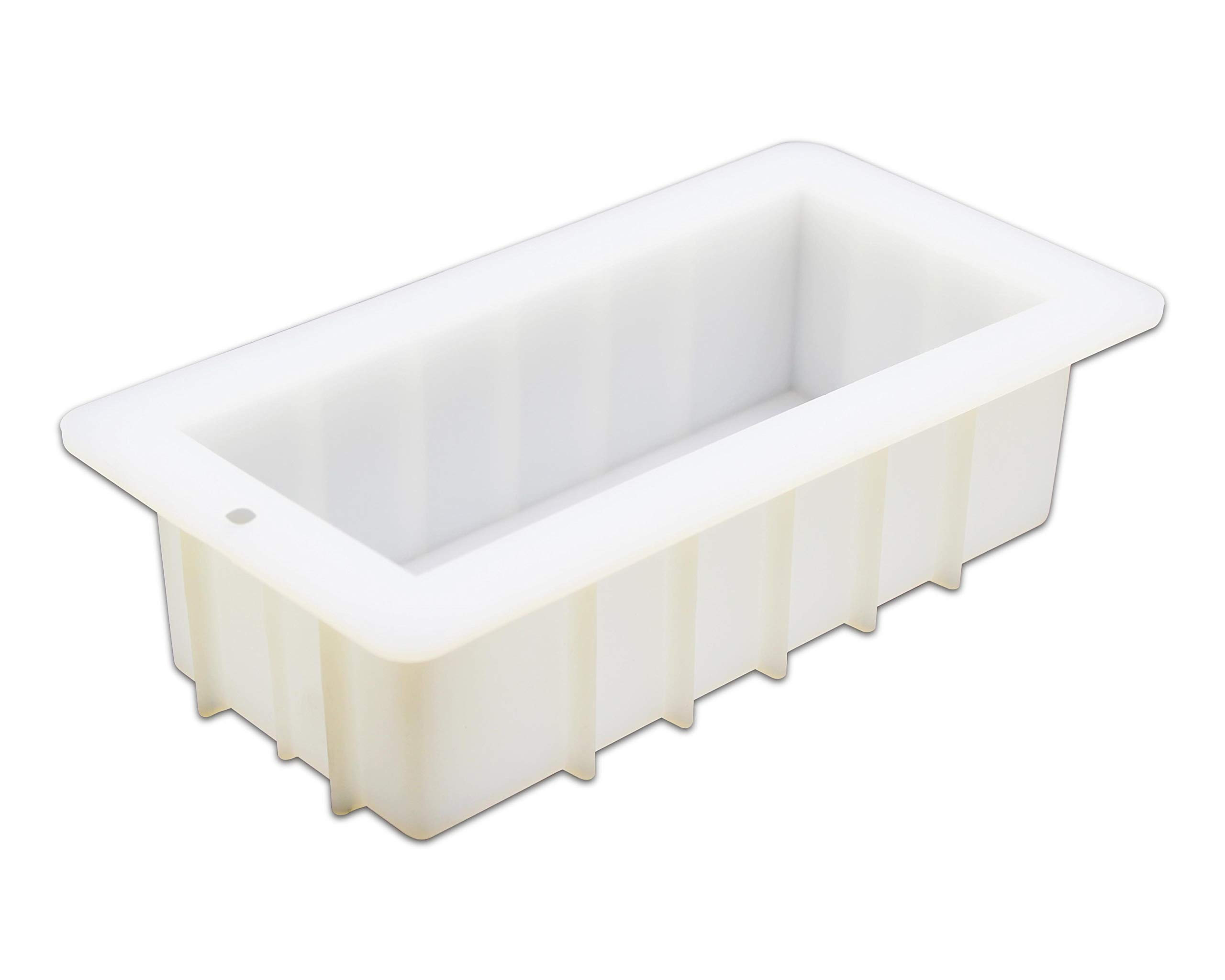 MOSE CAFOLO Loaf Soap Silicone Mold 8'' Rectangular White Mold 40oz for DIY Soap Making