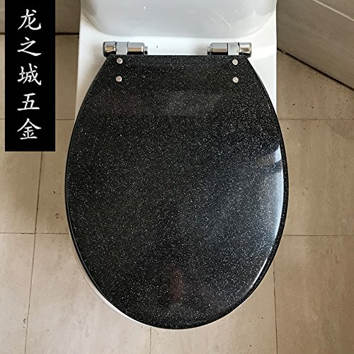 Topsed European Resin Toilet Cover General Seat Cover General Toilet Cover with Thickened Seat Cover to Slow Down Quiet Accessoriessimple and Comfortable General Slow Down Comfort Antiseptic European