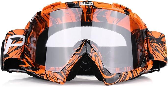 Qiilu Motorrad Goggle Motocross Wind Staubschutz Fliegerbrille Snowboardbrille Schneebrille Skibrille Wintersport Brille Dirtbike Off Road Schutzbrille Auto