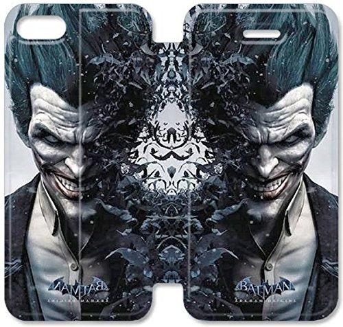 Flip étui en cuir PU Stand pour Coque iPhone 5 5S, bricolage 5 5S cellulaire Phone Coque Case Flip Pu en cuir Stand pour Coque iPhone 5 5S, bricolage 5 5S étui de téléphone cellulaire Batman Joker B6F