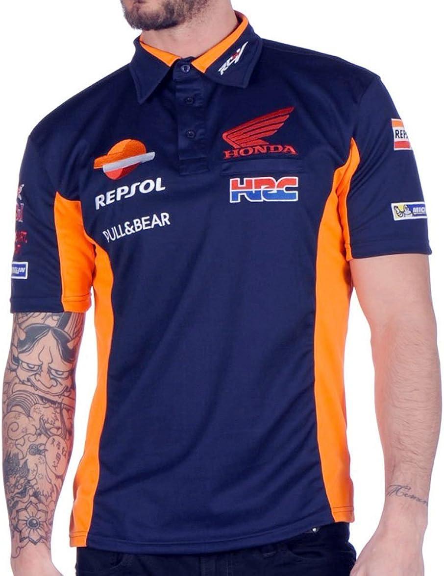 HRC Polo Oficial Racing Team MotoGP - Azul - L: Amazon.es: Ropa y ...