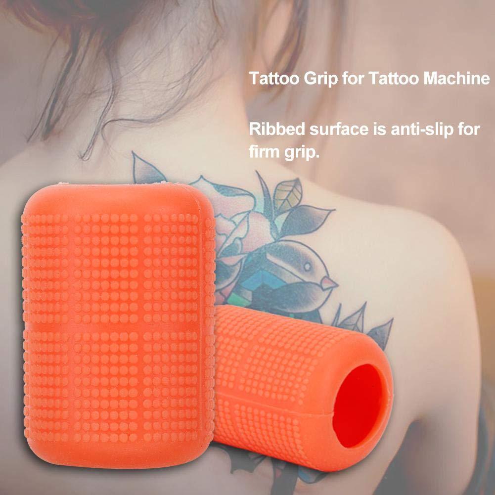 Cubierta de agarre de tatuaje, Manija suave de silicona para ...