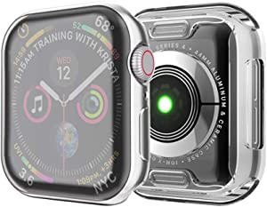 ISENXI Compatible for Apple Watch Case 40mm Series 5,2019 New iwatch Screen Protector TPU All-Around Protective Case hd Clear Ultra-Thin Cover Compatible for Apple Watch Series 5/4 (2Pack-Clear, 40MM)