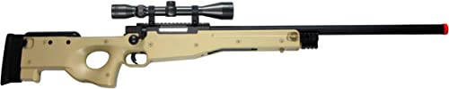 Team SD TSD Tactical L96 High Powered Bolt Action Spring Powered Airsoft Sniper Rifle