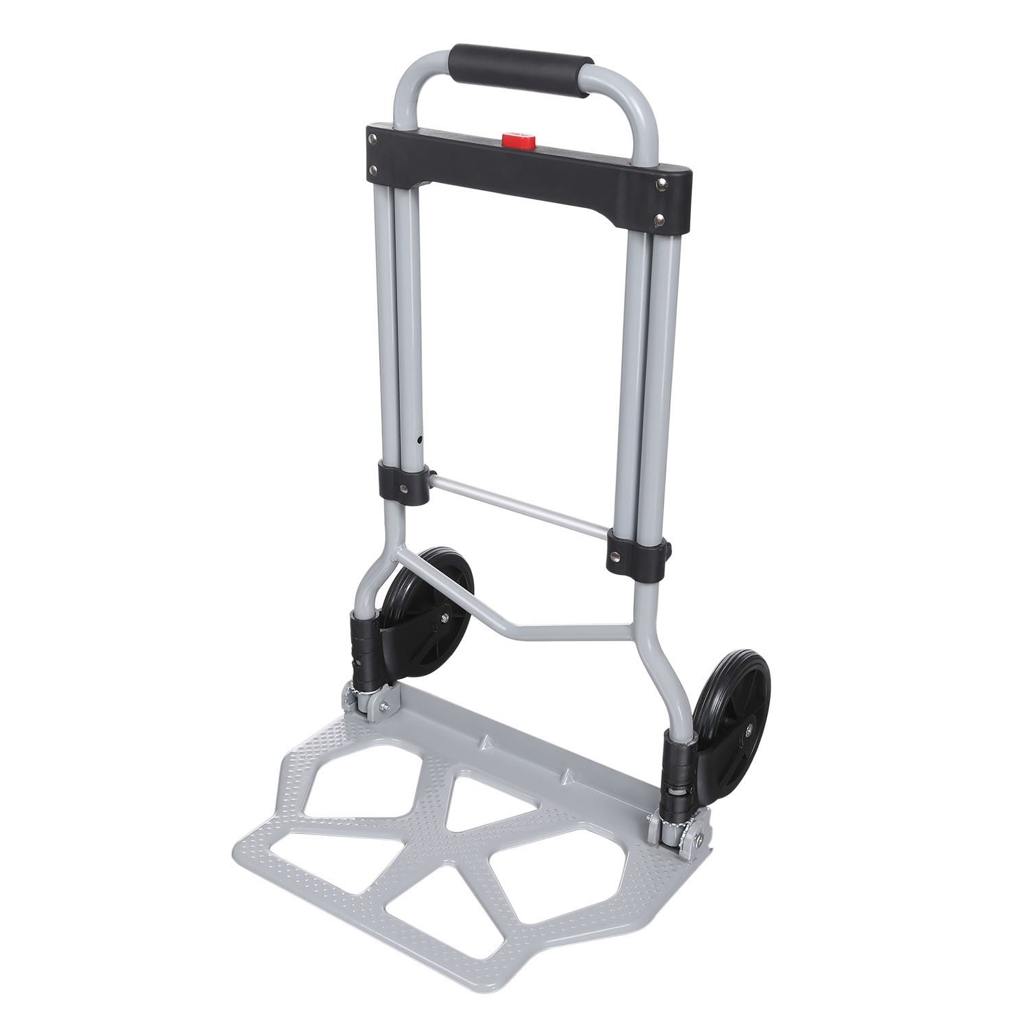 Portable Heavy Duty Folding Hand Truck Luggage Cart Large Capacity, Industrial/Travel/Shopping (220 lbs)