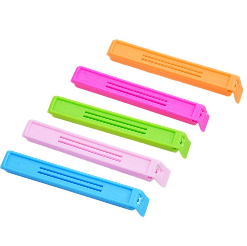 5x Da. WA plástico sellado Bolsa Clips para almacenamiento en cocina nevera congelador herramientas por color al azar Da.Wa