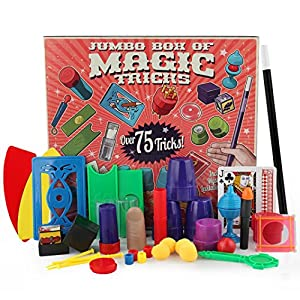 Leegor Junior Magic Props Set Kids Magic Show Tricks Toys Child DVD Kit Christmas Gift (red)