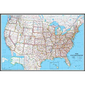 Amazon.com : USA Interstate Highways Wall Map - 22.5\
