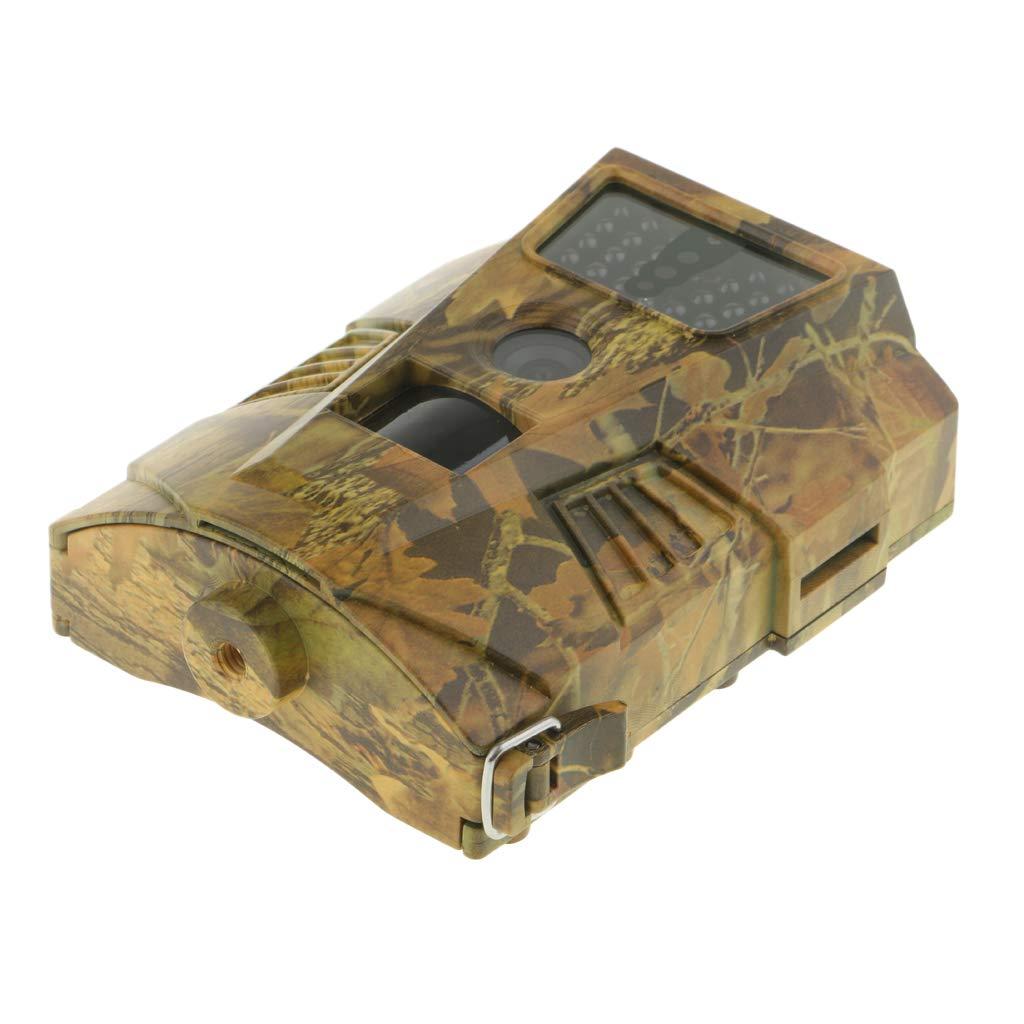 perfk Kit de Cámara Cazar Rastreo Infrarrojo Exploración Ht-001 Transmisión GPRS MMS al Teléfono - Sin Control Remoto (marrón)