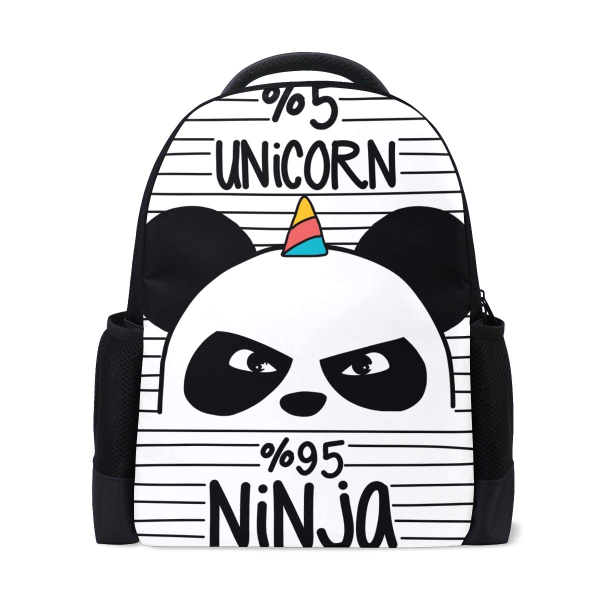 Amazon.com | TFONE Cute Ninja Panda Unicorn Backpack Bookbag ...