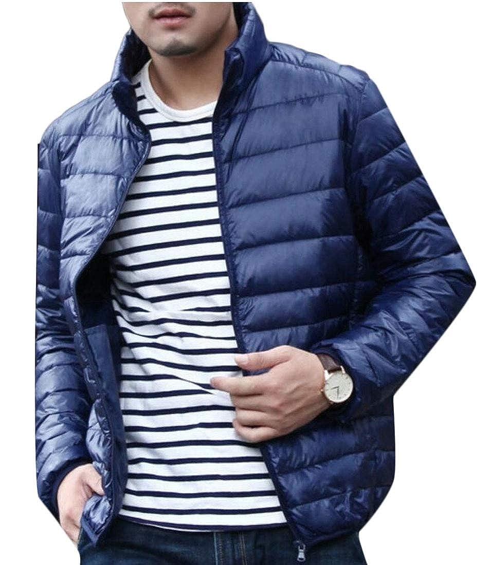 XQS Mens Ultra Stand Collar Short Down Jacket Down Coat