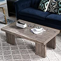 Hives and Honey Haven Home Walker Grey Mist Rectangular Coffee Table, Smoke Grey