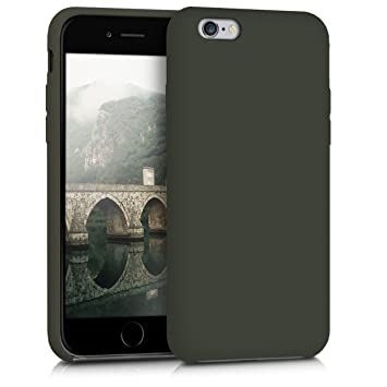 kwmobile Funda compatible con Apple iPhone 6 / 6S - Carcasa de TPU para móvil - Cover trasero en verde oliva mate