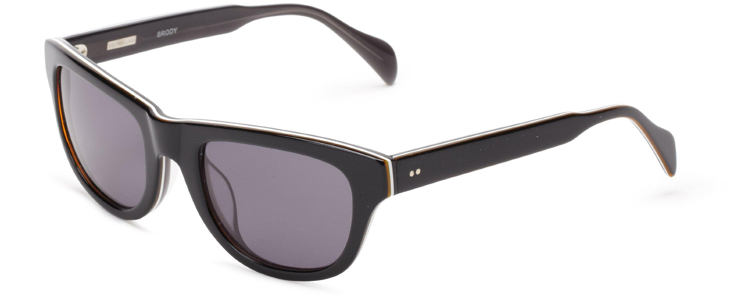 Derek Lam Brody Wrap Sunglasses, Black, 51 mm by Derek Lam