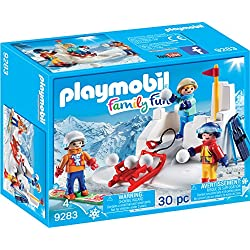 PLAYMOBIL Snowball Fight Building Set