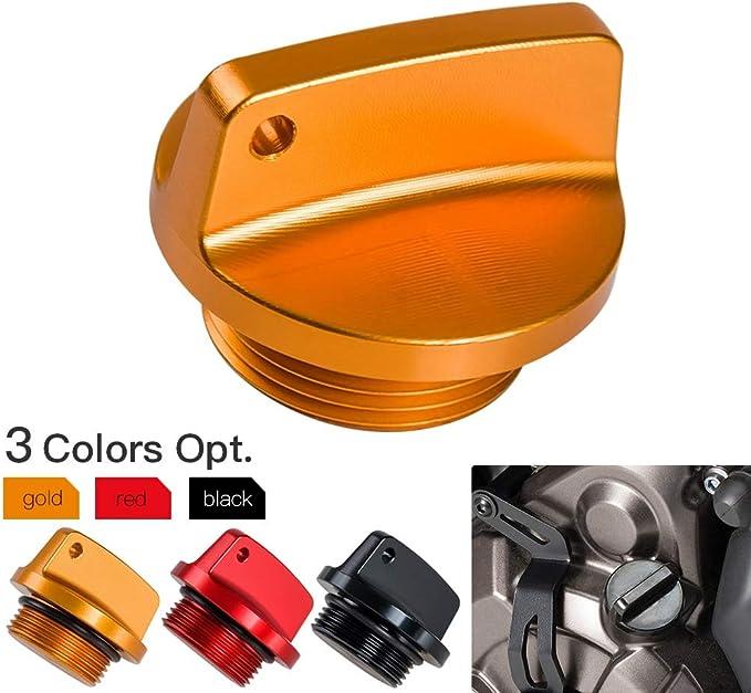 Farbe : Schwarz NO LOGO 1pc /Öleinf/üllstopfens Kappe for KTM 125 150 250 350 450 500 690 1290 SX SXF EXC EXCF XC XCF XCW XCFW SMC SMR Enduro Super Duke Supermoto