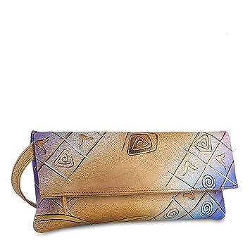 Art + Craft Clutch Tasche I Leder 30 cm Greenland BsFiAwuy