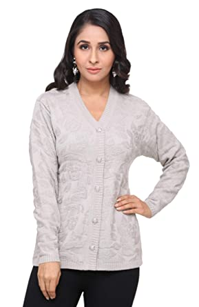 Modeve Cardigan Sweater for Winter for Women (Grey 3c7542f1b