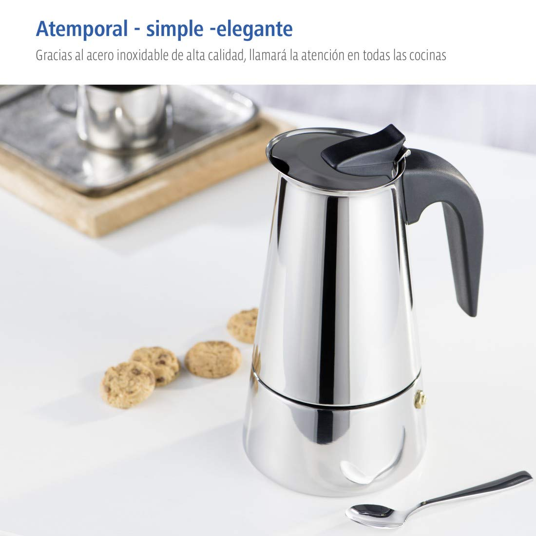 Xavax Cafetera espresso para 6 tazas de café aromático ...