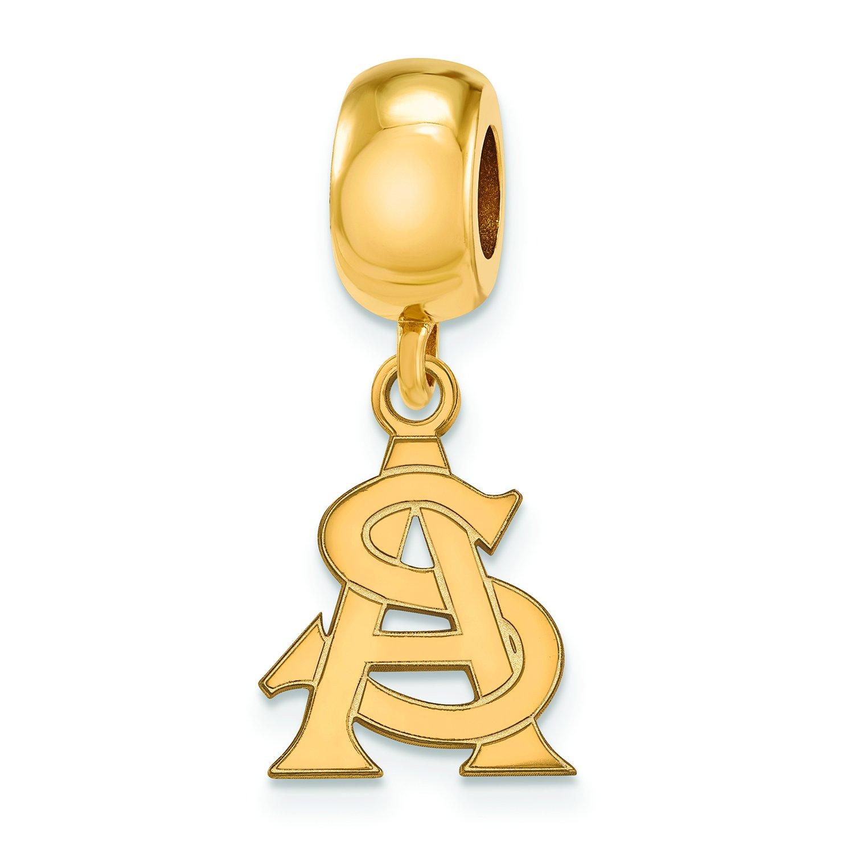Arizona StateビーズチャームSmall (1 / 2インチ)ダングル(ゴールドメッキ)   B01IYEWL64