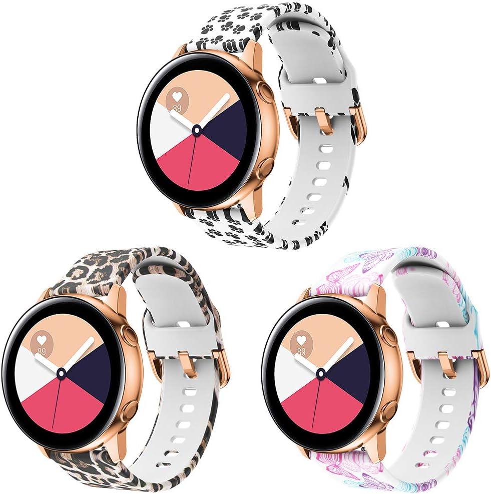 Supore Correa Galaxy Watch Active 40mm, Correas de Silicona de 20 mm con Liberación Rápida para Active 2 / Gear S2 Classic/Gear Sport/Huawei Watch 2 / Vivoactive 3