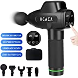 OCACA 2020 Upgraded Muscle Massage Gun, Handheld Deep Tissue Massager, Rechargeable Quiet Portable Massaging Gun for…