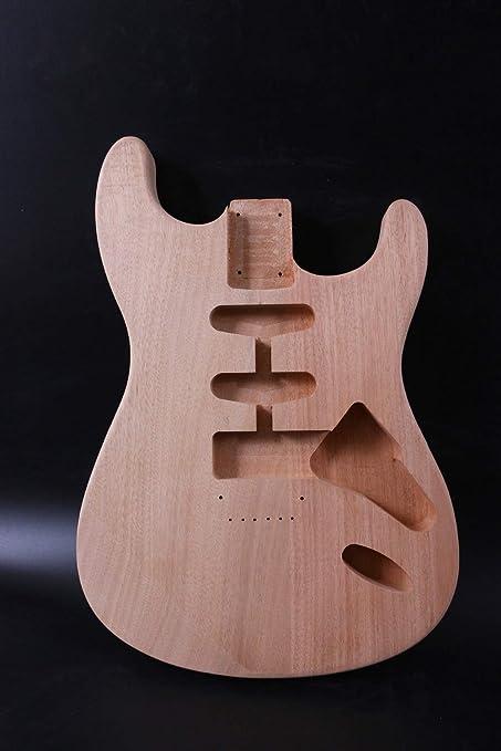 Cuerpo de guitarra sin acabado, estilo SSH, madera maciza, cuerpo ...