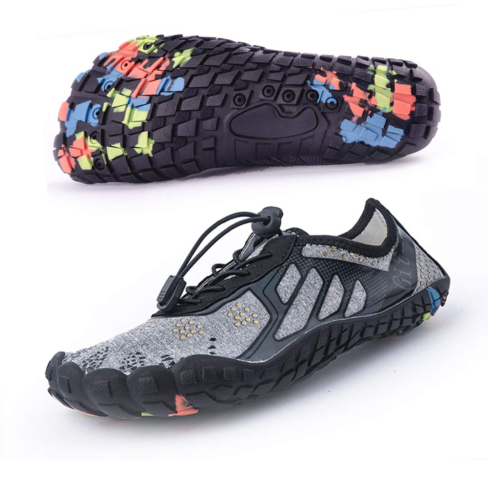 Git-up Unisex Sport Water Shoes Quick Dry Sneakers Barefoot Slip-on Gym Shoes Aqua Sock for Outdoor Walking Running Hiking Kayaking Boating Surfing Yoga Exercise41#,Gray by Git-up