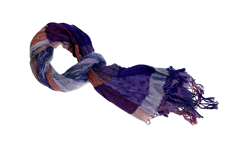 Kuugoods Womens Fashion Scarf One Size Purple Violet Bloom