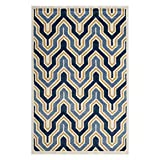 Safavieh Amherst Collection AMT438T Ivory and Gold Indoor/ Outdoor Area Rug (6′ x 9′) Review
