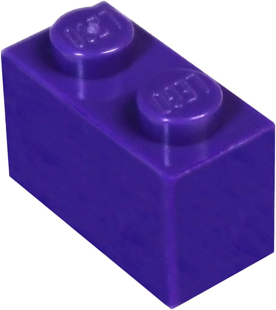 LEGO Parts and Pieces: Dark Purple (Medium Lilac) 1x2 Brick x50