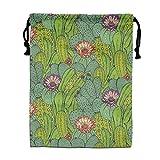 Training Cactus Mammillaria Peyote Opuntia Drawstring Backpack Eco-friendly Material