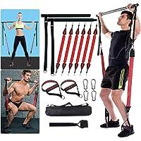 FOSER Portable Pilates Bar Kit, Upgraded Version of Detachable Exercise Stick, 60-180LBS Anti-Breakage Adjustable…