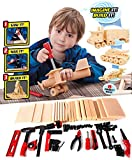 wood kits for kids tool box - DIY Deluxe Foam Wood Kids Construction Tool Workshop Kit