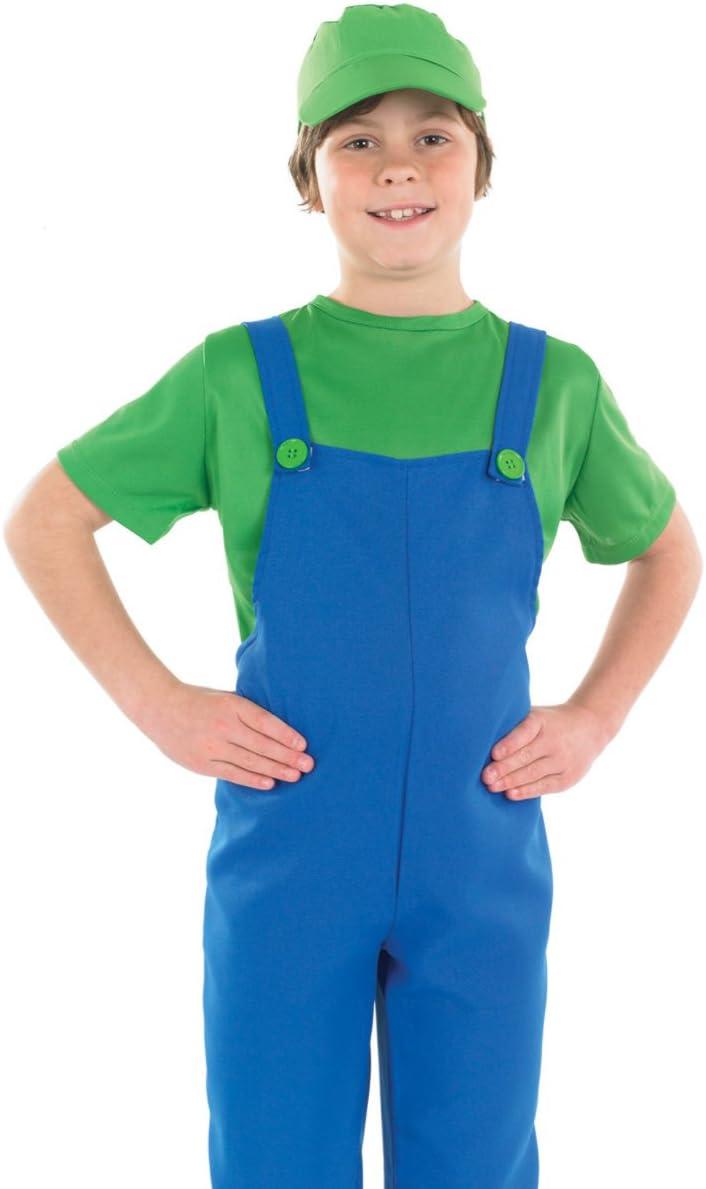 Boys Toys - Disfraz de súper Mario Bros para niño, talla M (6-8 ...